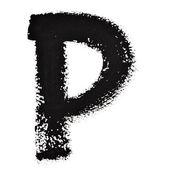 Lettere di inchiostro nero — Foto Stock