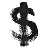 Siyah mürekkep harfler — Stok fotoğraf