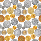 Coins seamless — Stock Photo