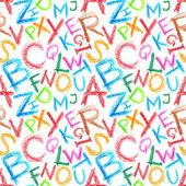 Crayon alphabet seamless — Stock Photo