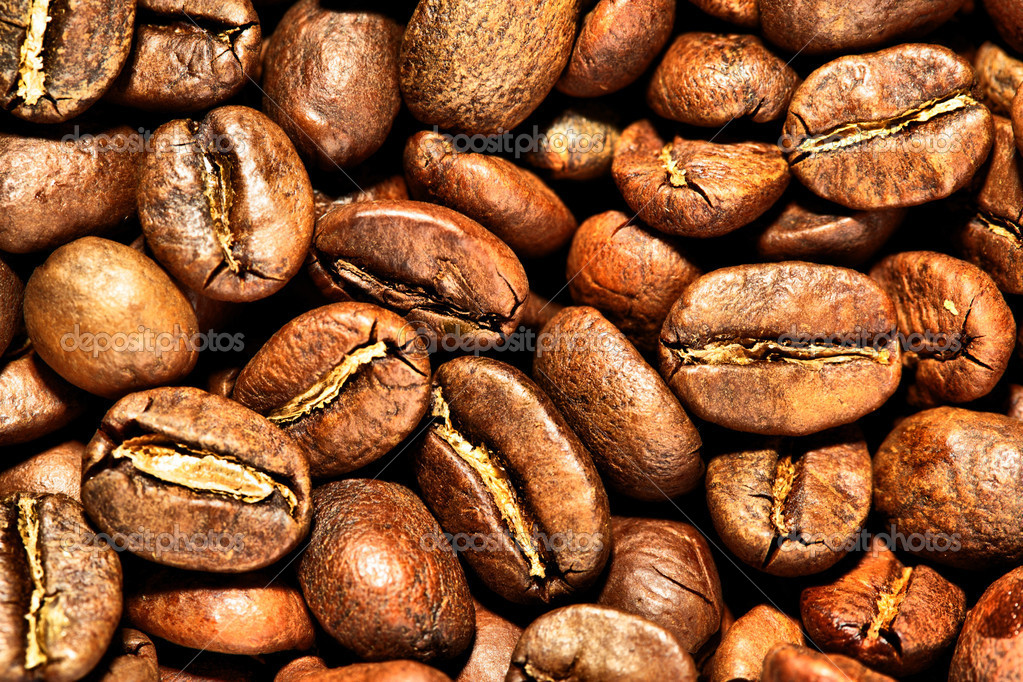 Coffee beans close-up, may be used as background — Stock Photo #4551381