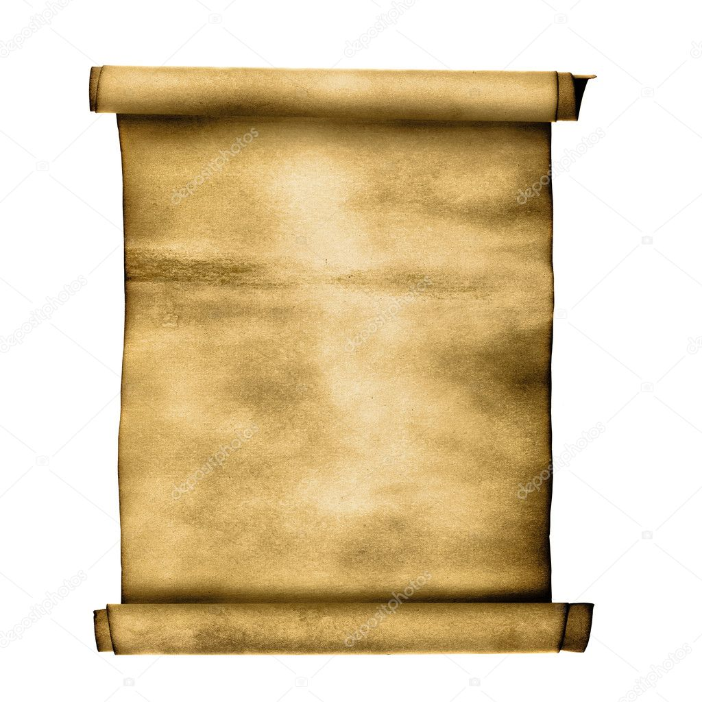 Ancient scroll isolated over a white background — Stock Photo #4553243