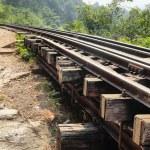 Old railway — Stock Photo
