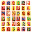Colorful plasticine alphabet - Foto Stock