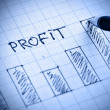 Profit diagram - Stock Photo