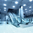 Hall with escalators - Stock Photo