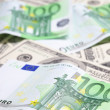 Euro and dollar — Foto Stock
