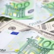 Euro and dollar — Stockfoto