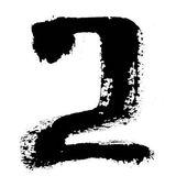 Черные чернила чисел — Стоковое фото