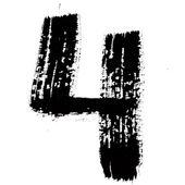 Black ink numbers — Stock Photo