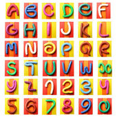 Colorful plasticine alphabet — Stock Photo