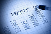 Profit diagram — Stock Photo