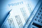 Profit bar chart — Stock Photo
