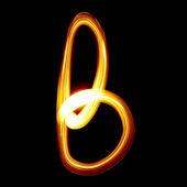 Light ABC lower case — Stock Photo