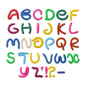 Plasticine alphabet — Stock Photo