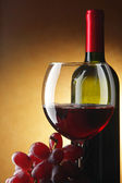 Stil-life with red wine — Stock Photo