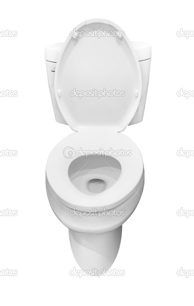 White lavatory pan isolated over the white background — Stock Photo #4570201