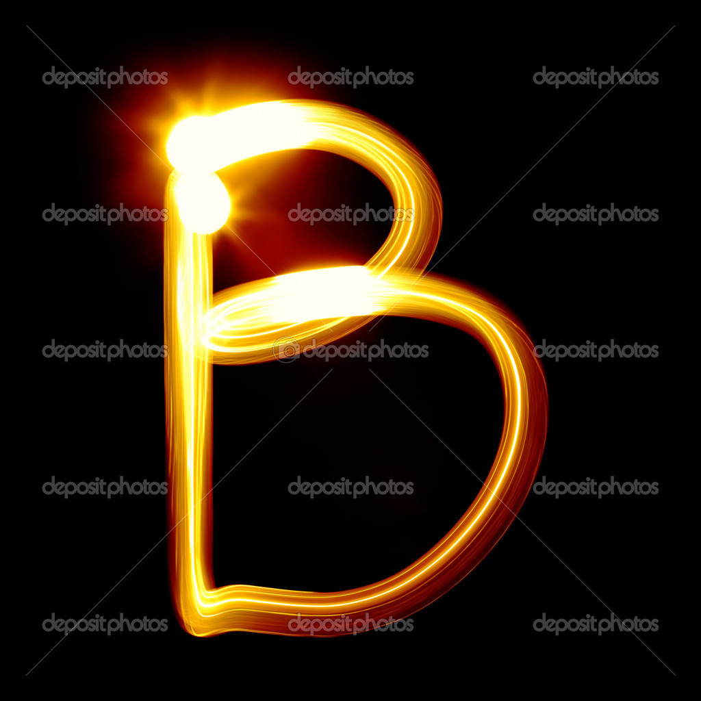 Created by light alphabet over black background — Stock Photo #4570214