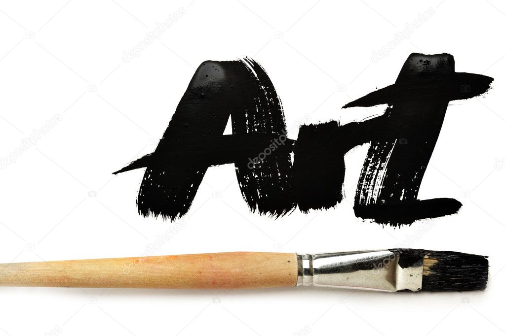 Brush and word Art isolated over the white background — Stock Photo #4579826