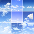 Set of different skies — Stock Photo