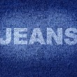 Blue jean texture — Stock Photo