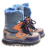 Children's winter shoes — Stock Photo