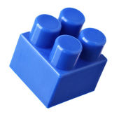 Blue block of meccano — Stock Photo