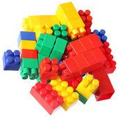 Colorful blocks of meccano — Stock Photo