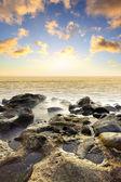 在海上日落 — 图库照片