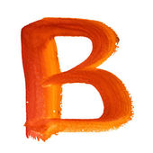 B - Color letters — Stock Photo