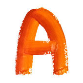 A - Color letters — Foto de Stock