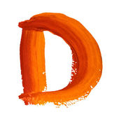 D - Color letters — Stock Photo