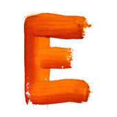 E - Color letters — Stock Photo