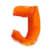 J - Color letters — Foto de Stock