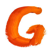 G - Color letters — Foto de Stock