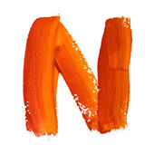 N - Color letters — Stock Photo