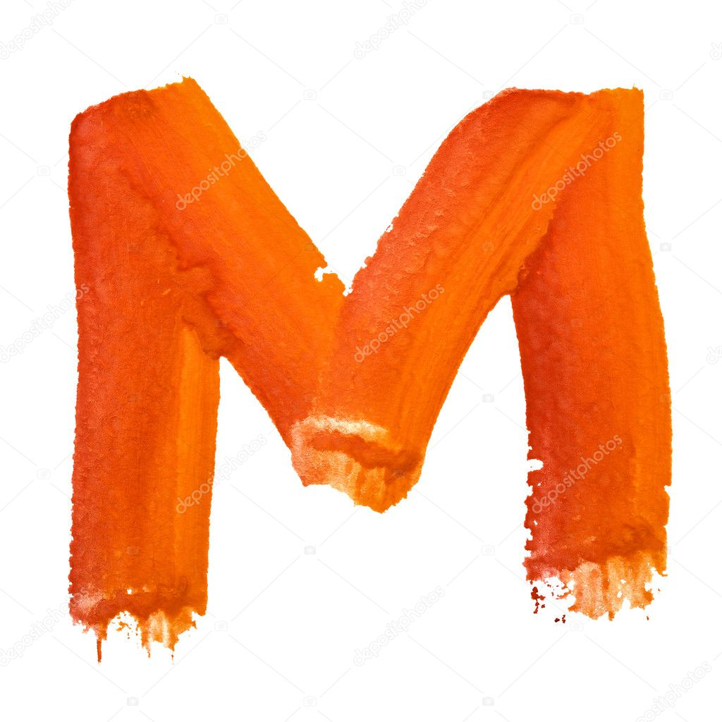 M - Color letters isolated over the white background — Stock Photo #4629997