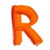 R - Color letters — Stock fotografie