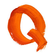 Q - Color letters — Stock Photo