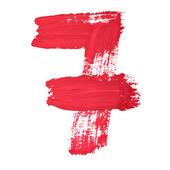 Red handwritten digits — Stock Photo