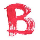 Rode handgeschreven brieven — Stockfoto
