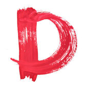 Kırmızı el yazısı harfleri — Stok fotoğraf