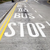 Bus stop — Stok fotoğraf