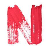 červeně psané dopisy — Stock fotografie