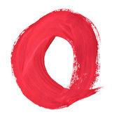 Czerwony odręcznych listów — Zdjęcie stockowe