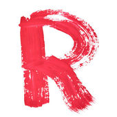 красные рукописные буквы — Стоковое фото