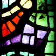 Multicolored stained glass window - Stock Photo