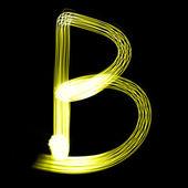 Creato da lettere di luce — Foto Stock