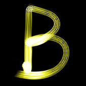 Stworzony przez światło litery — Zdjęcie stockowe