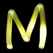 Skapad av ljus bokstäver — Stockfoto